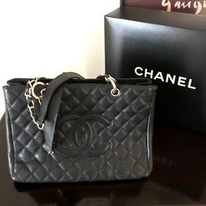 Chanel Grand Shopper GST | Quilted Caviar Leather